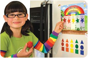 Today I Ate A Rainbow.  Tool to get kids (and maybe us adults too) to eat more fruits and veggies.  Great idea!