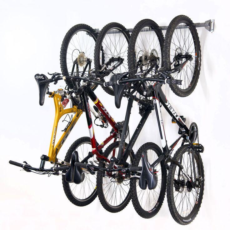 Monkey Bar Wall Bike Rack Mounts 4 Bikes Garage Vertical Storage Rack System | eBay