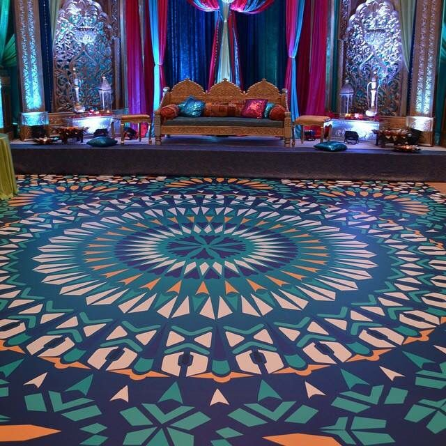 customize your dance floor this mandala design immediately sets the