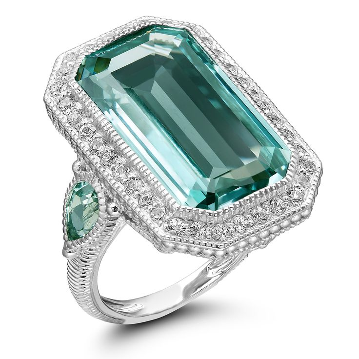 Judith Ripka Sterling Silver Aria Elongated Paraiba Spinel Ring