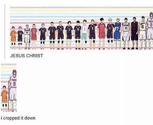haikyuu x kuroko no basket... I am ashamed of myself... I'm shorter than Nishinoya...