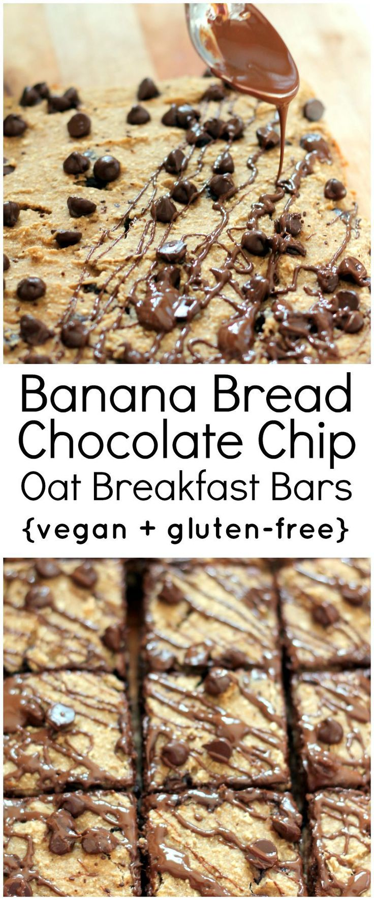 Healthy, gluten free banana oatmeal breakfast bars that taste like just like banana bread. Easy to make and even easier to eat!