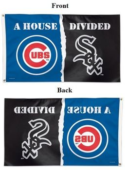 "House Divided Flag 3x5 """"Cubs vs White Sox"""" Deluxe"