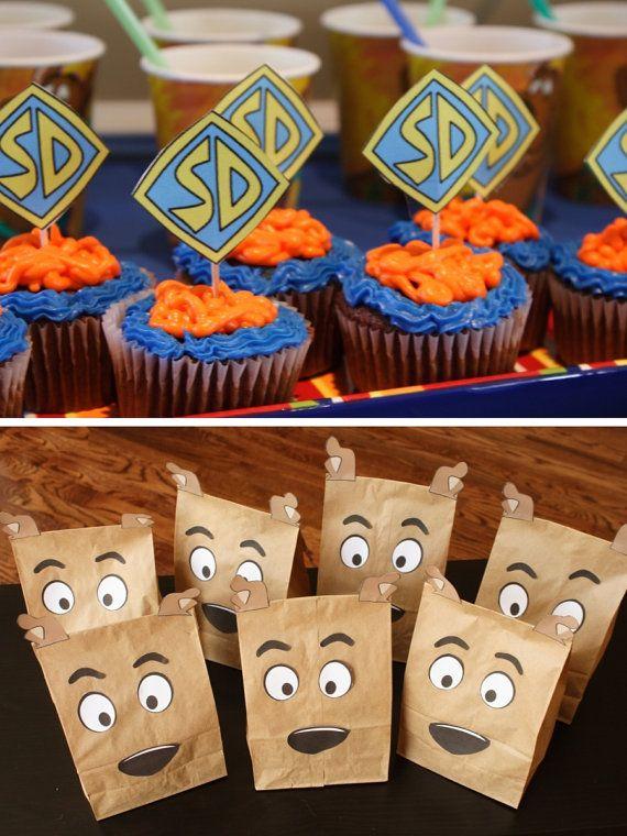 Scooby Doo Birthday Party Printables banner por chicaandjo en Etsy