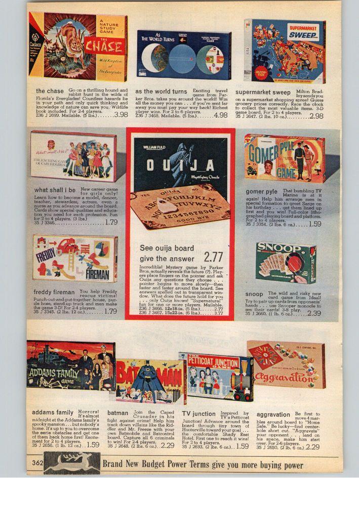 1966 PAPER AD Board Games Gomer Pyle Batman Addams Family Petticoat Junction