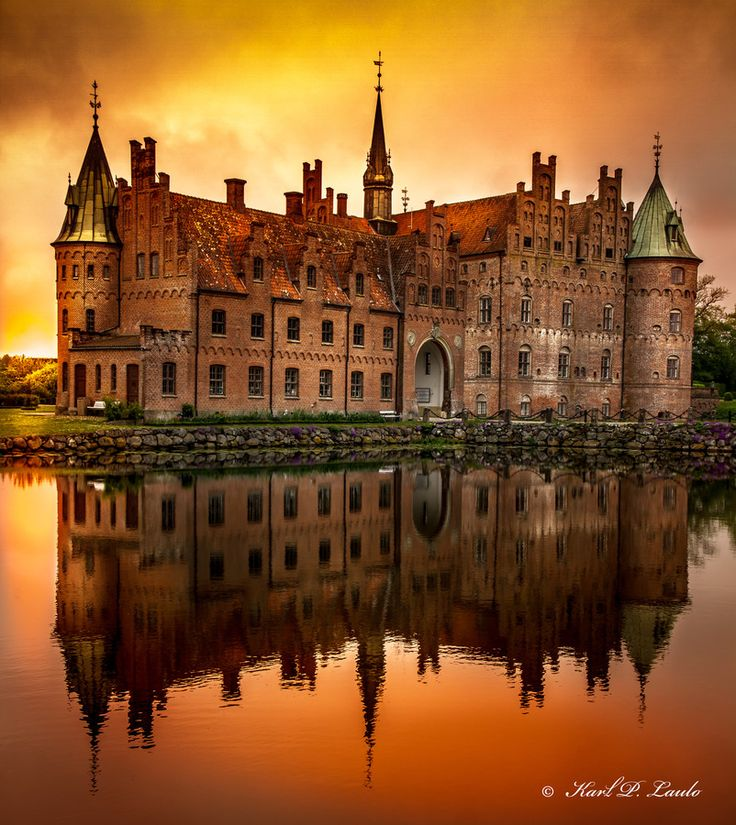 Egeskov Castle by Karl P. Laulo - Denmark My husbands family is from Denmark. We plan to visit someday.