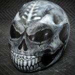 Skull Motorcycle Helmet II - Custom Painted Motorcycle Helmet