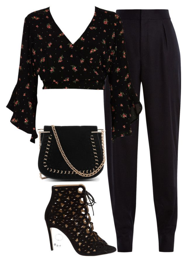 """""""Untitled #967"""" by bellax0x on Polyvore featuring Yves Saint Laurent, River Island, Bionda Castana and Tiffany & Co."""