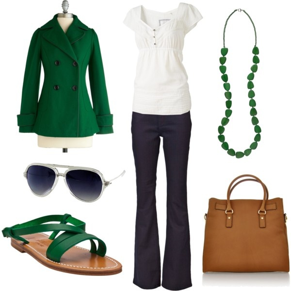 greenStyle, Emeralds Green, Clothing, Green Coats, Day Trips, Colors, Outfit, Kelly Green, Green Day