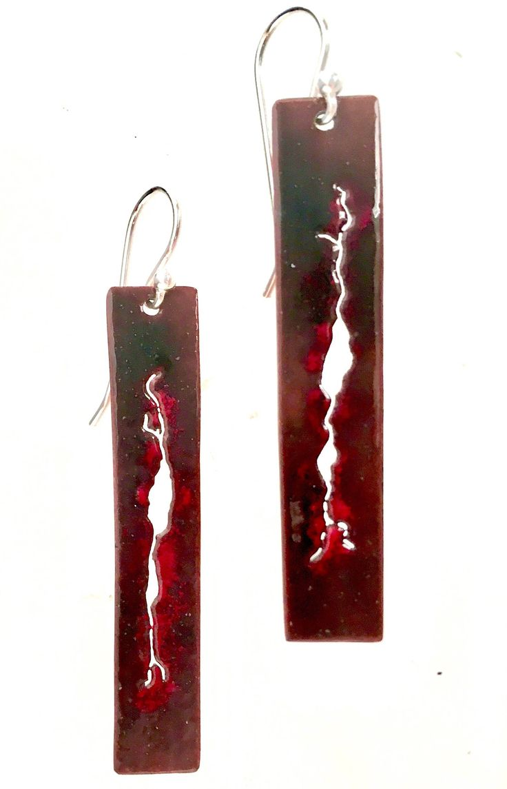 EnamelArt vitreous enamel earrings