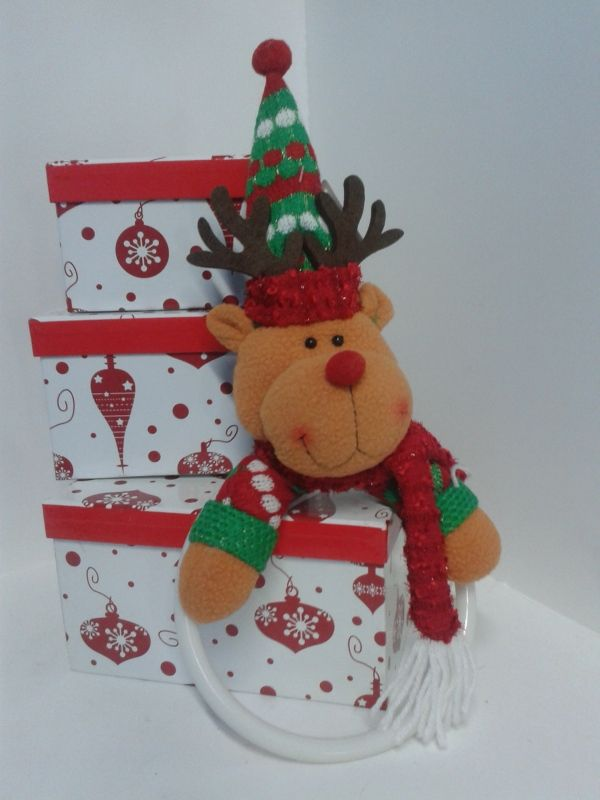 Toallero navide o reno decoracionnavidadarmenia - Belenes de navidad manualidades ...
