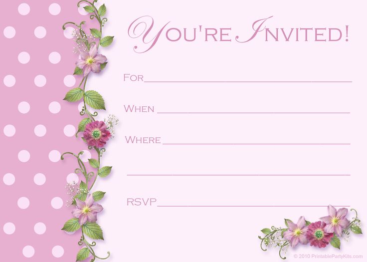Best 25 Free birthday invitation templates ideas – Little Girl Party Invitations