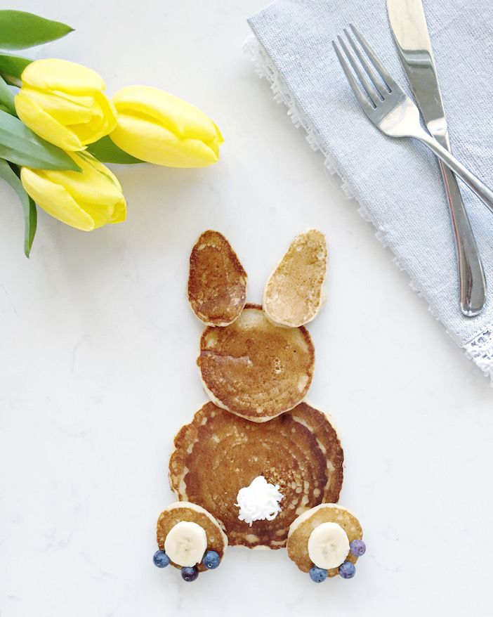These Peter Cottontail pancakes are perfect for Easter … or any day!