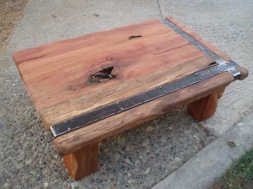 Muebles rusticos madera nativa mesas d centro for Bar rustico de madera nativa