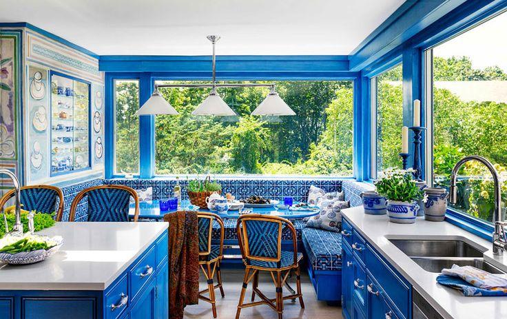 #Cucina #kitchen #colours #blue&white #design #reality
