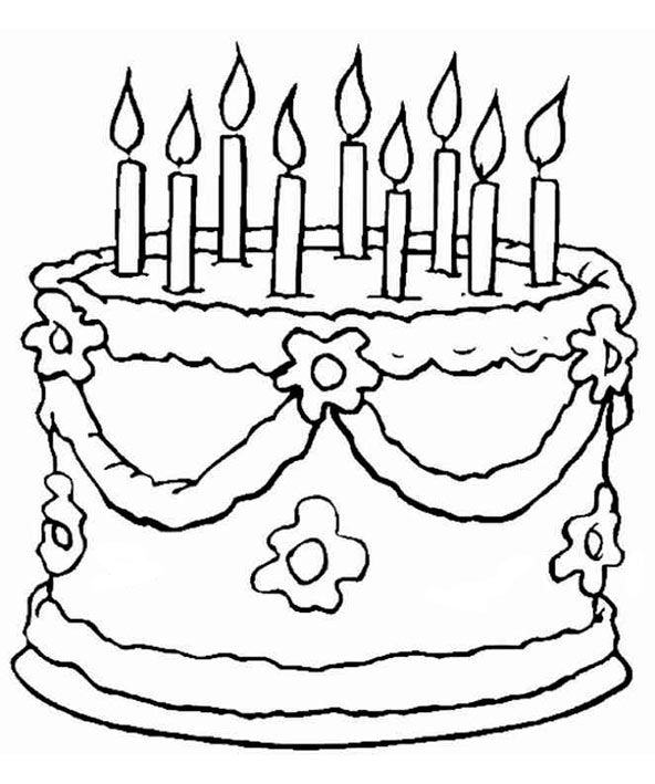 ausmalbilder geburtstag  happy birthday coloring pages