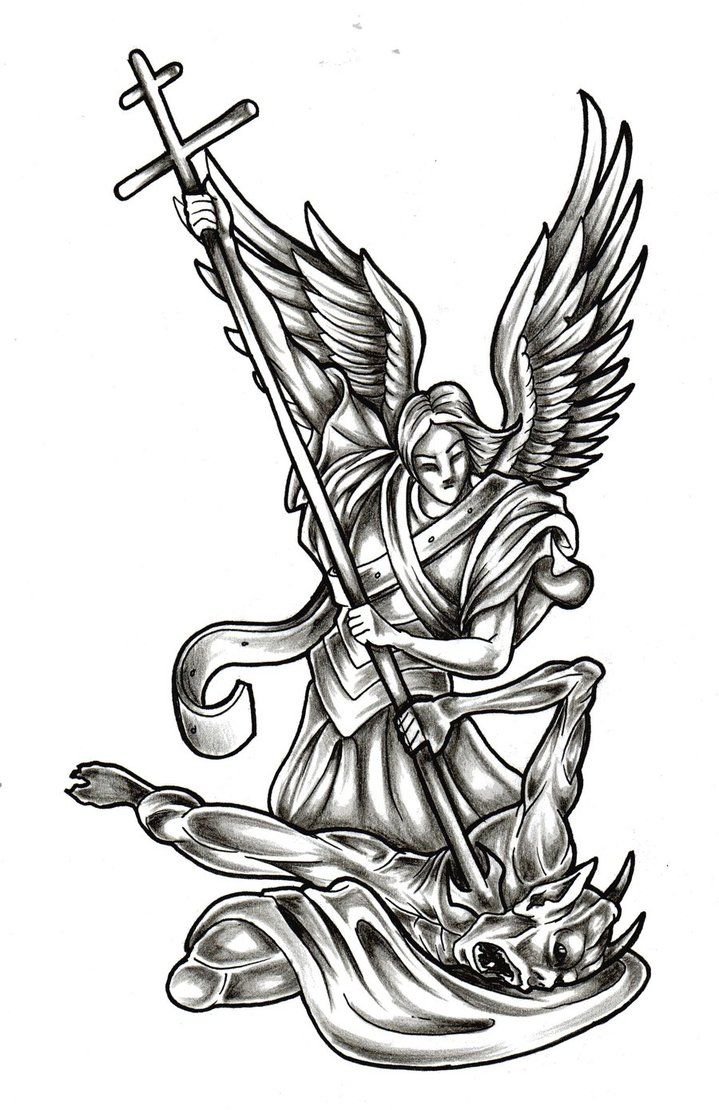 St Micheal Tattoo Design by Almigh-T on DeviantArt