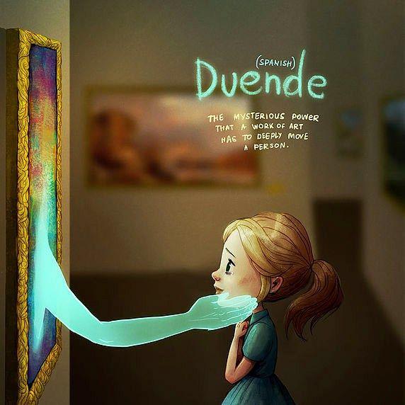 Artista ilustra 14 palavras intraduzíveis pra gente entender o significado
