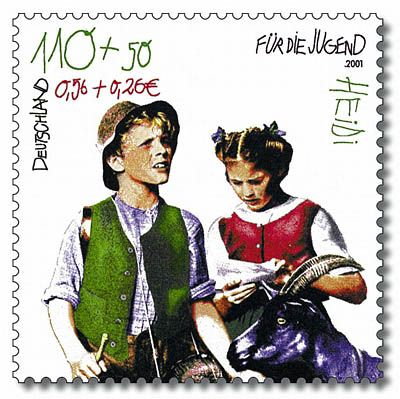 Stamp from Deutsche Post AG from 2001, Heidi