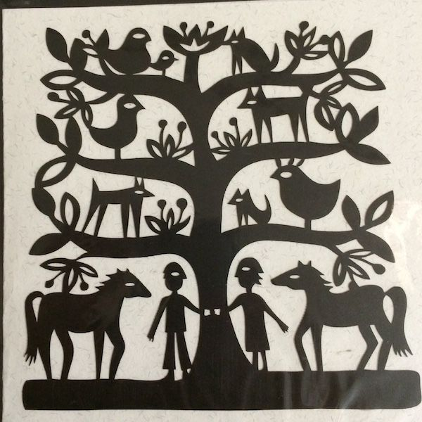 This Papercut Life, by Sue Codee. Original paper cut cards. Love this family tree for those who love their animals. $12.60