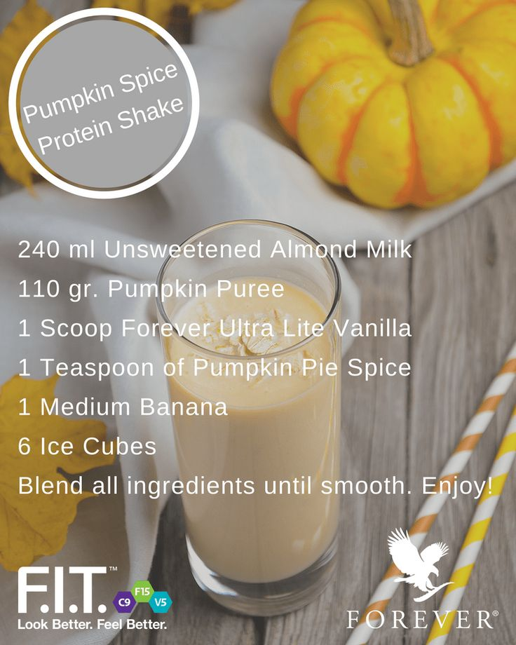 In America it's a nation-wide phenomenon! Pumpkin spice everything is back. From cookies to coffee drinks to even things that shouldn't be pumpkin flavored, the pumpkin spice craze has hit with full force. We gave it our own twist with a Pumpkin Spice Protein Shake! #IAmForeverFIT #Autumn #Pumpkin #Shake #Fitness #Protein     We've decided to embrace it with our own twist on a Pumpkin Spice Protein Shake!