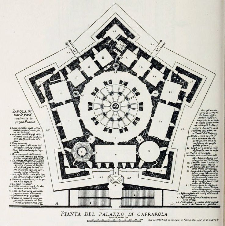 Plan of the Palazzo Farnese, Caprarola