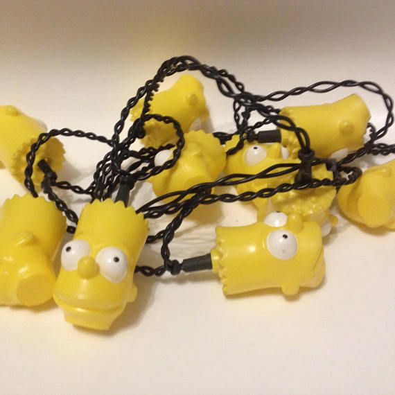 The Simpsons Bart Simpson string lights 1990s