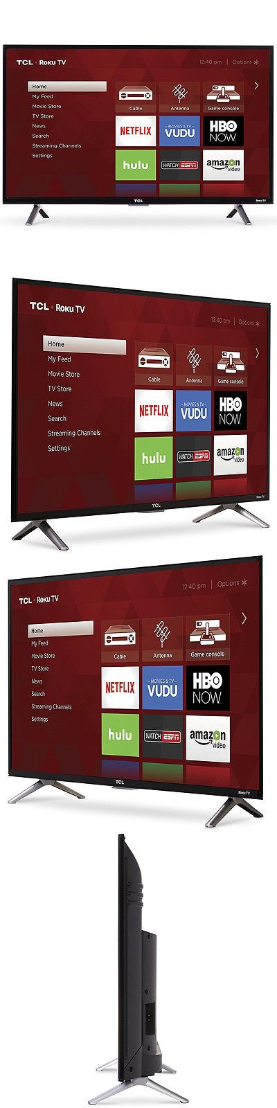 Televisions: Tcl 32-Inch Roku Smart Led Hdtv With 720P Resolution And 60Hz Refresh Rate - Black -> BUY IT NOW ONLY: $179.99 on eBay!