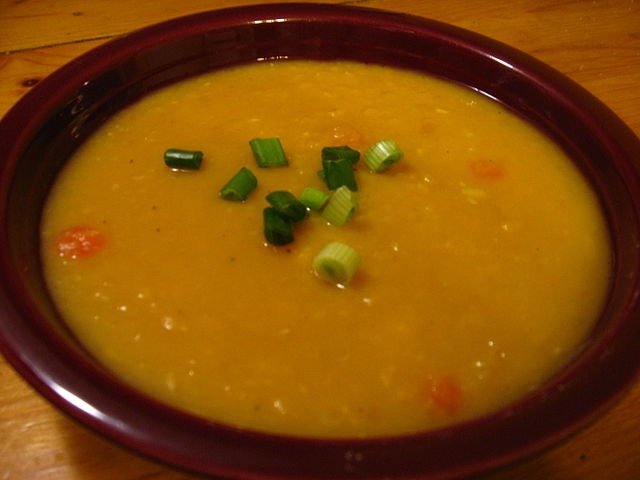 Split Pea Soup - also try SKIP the thyme,sage & basil. Simmer onion with skin on,carrot,celery cut in 3rds,3 parsley sprigs,salt & bout 10 pepper corns with ham bone thrown in water or chic stock for a few hours.Strain & use meat that fell off bone pitch the rest. This is your broth to start recipe. Only seasoning is salt & pepper if needed.