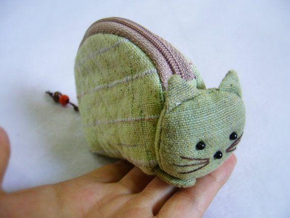Meow!  Sweet Coin purse zipper cotton zipper pouch from Doo Design #teamwwes #cats #purse