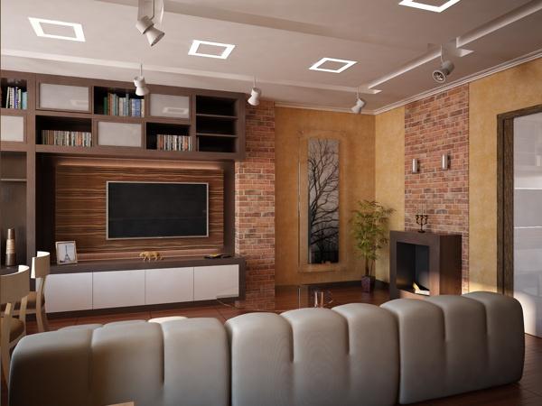 Гостиная / Living room by Stanislav Torzhkov, via Behance