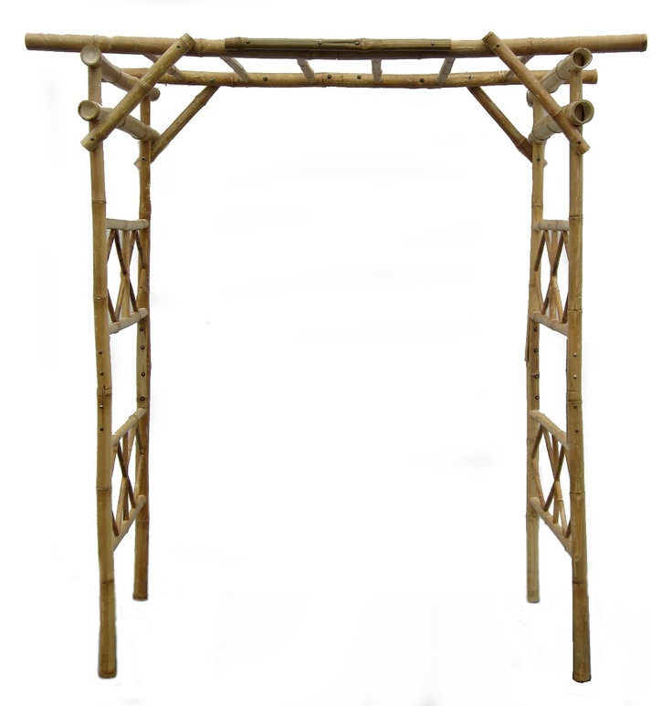 Bamboo Wedding Arch: Bamboo Wedding Arch Kit With Clear Varnish. 6' Wide X 3