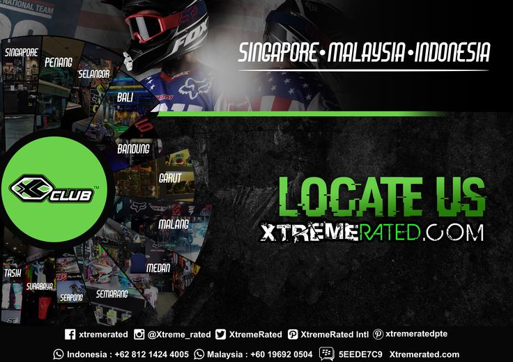 Visit our stores to get apparels and protections for your wild ride http://www.xtremerated.com/locate-us  #xtremerated #xclub