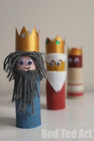 Reyes Magos de rollos de papel