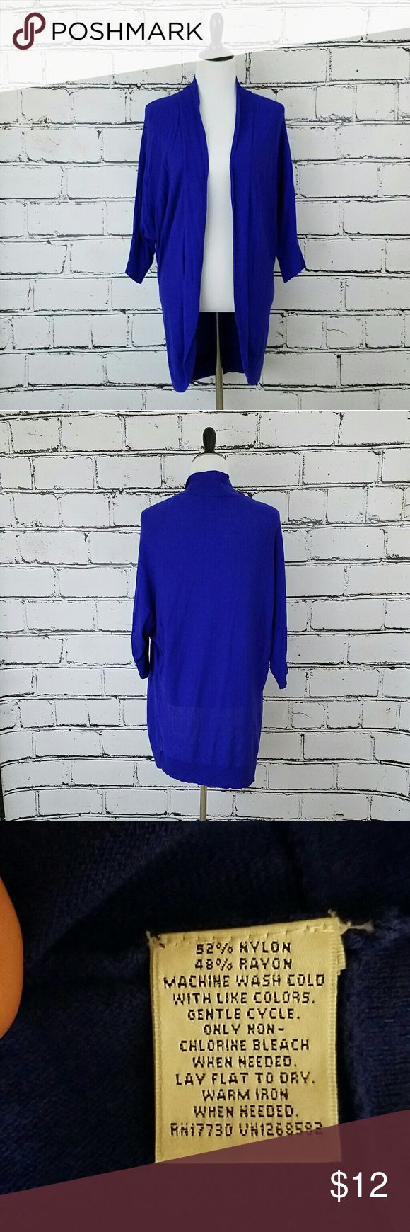 Lightweight Open Cardigan! Cobalt blue lightweight open cardigan sweater. Length is about 31 inches. Great condition! Mossimo Supply Co. Sweaters Cardigans
