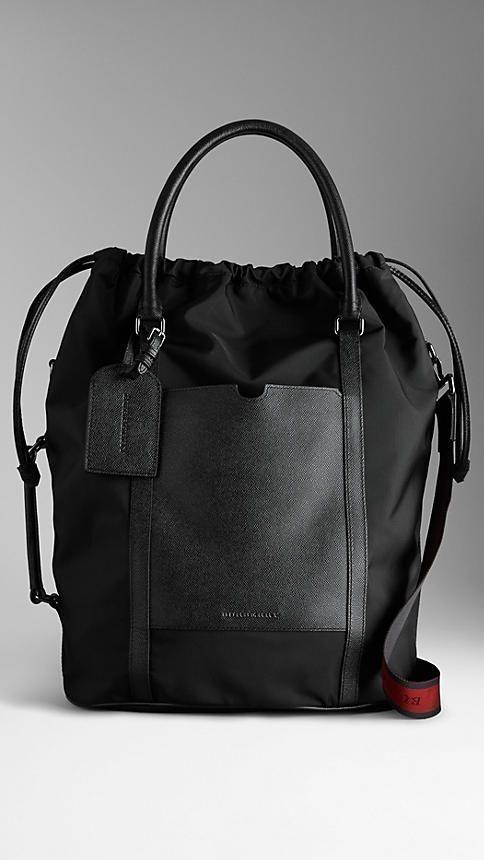 London Leather Nylon Tote Bag | Burberry