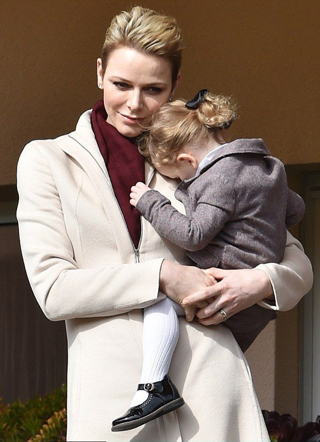 Princess Gabriella shared a loving moment with her mother Princess Charlene as the royal family attended a charity rugby tournament