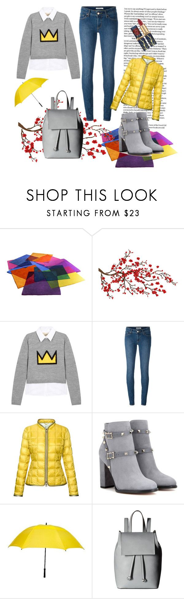 """""""rain"""" by e-memagic ❤ liked on Polyvore featuring Brewster Home Fashions, Alice + Olivia, Levi's, FAY, Valentino and French Connection"""