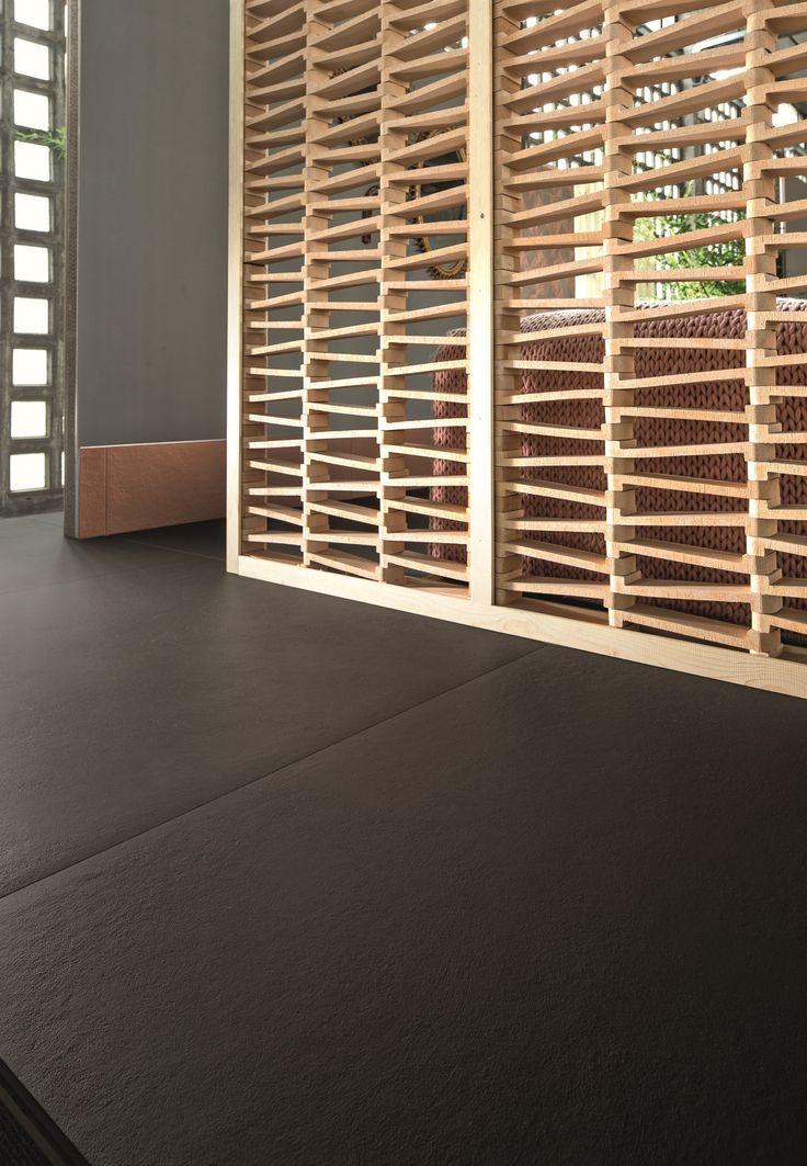 Terracotta room divider TIERRAS ARTISANAL BIS-COTTO TIERRAS Collection by MUTINA | design Patricia Urquiola