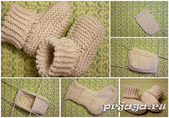 Детские пинетки и носки спицами или крючком - Результаты ...