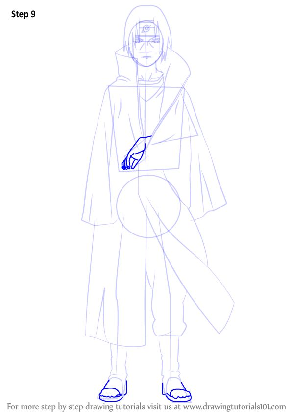 Learn How To Draw Itachi Uchiha From Naruto Naruto Step By Step Drawing Tutorials In 2021 Itachi Naruto Sketch Naruto Drawings