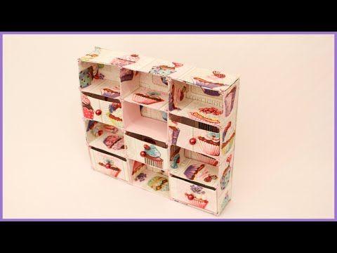 Mini Gaveteiro de Caixa de Leite - YouTube
