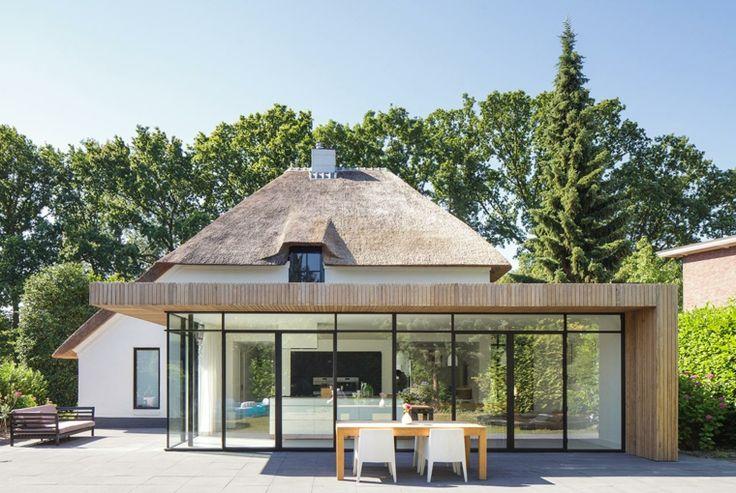 extension de maison en bois vitrée