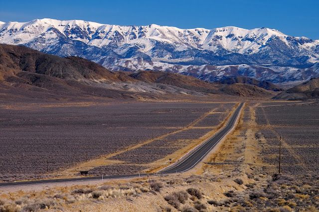The Loneliest Highway, Nevada Desert. Highway 50