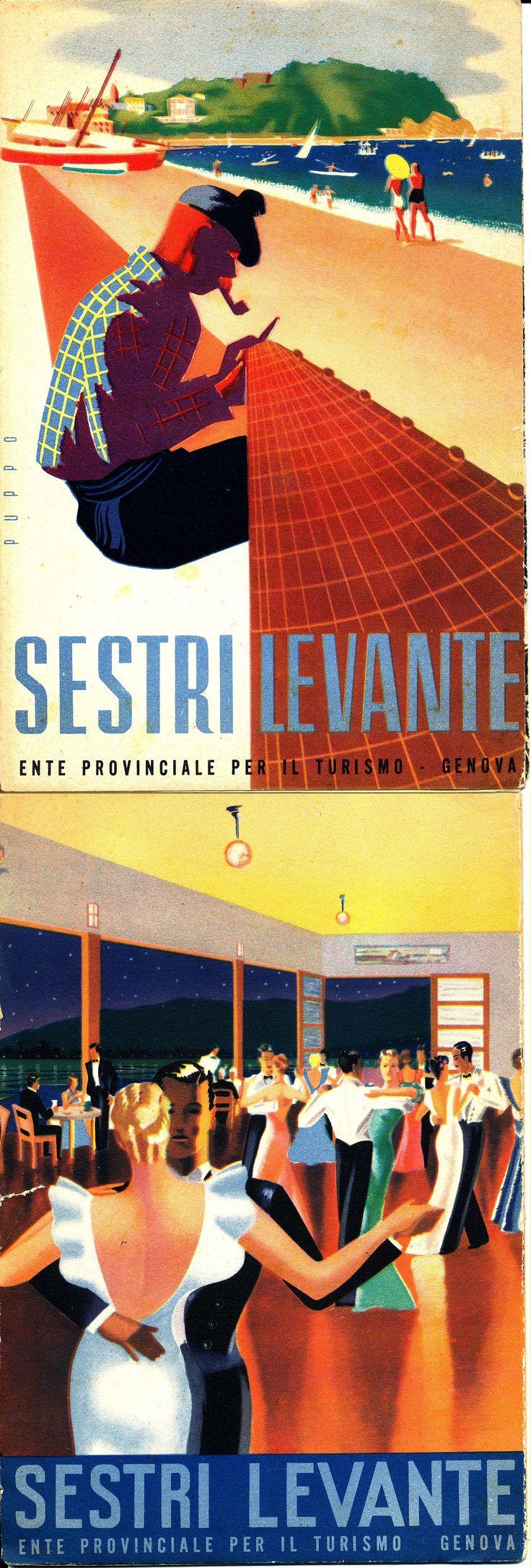Volantino promozionale di Sestri Levante prodotto dall'Ente Provinciale per il Turismo di Genova (1940)