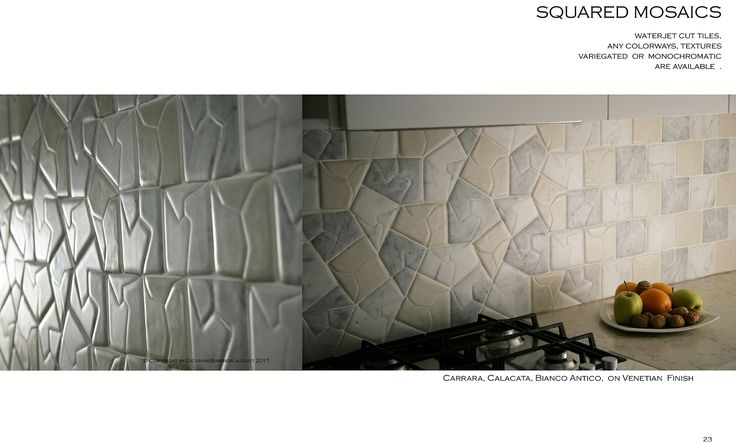 The first Series presenting a different shape-drawings result by using standard production tiles.
