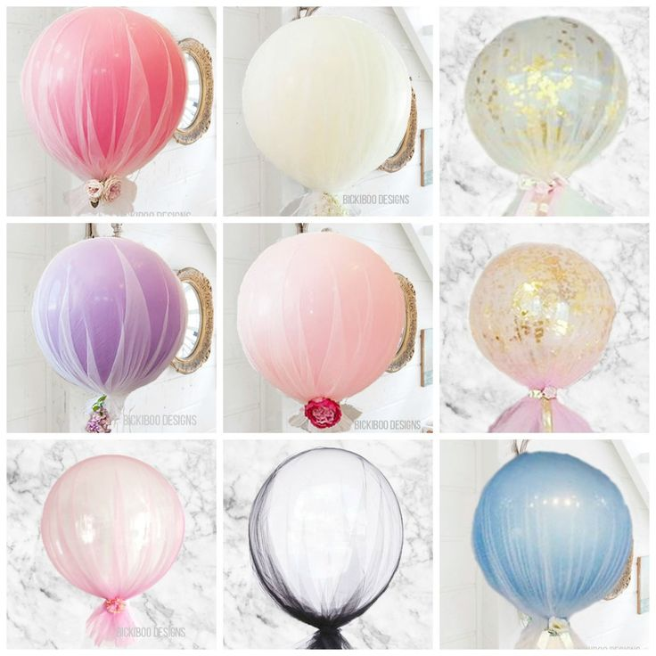 Best 25 tulle balloons ideas on pinterest christening for Baby shower decoration ideas with balloons