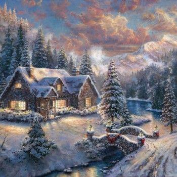 Thomas Kinked snow paintings
