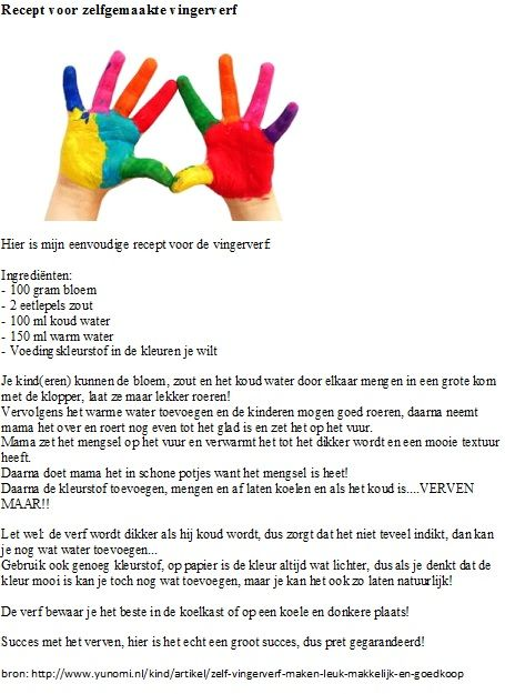 recept voor zelfgemaakte vingerverf