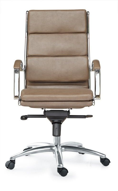 Livello High Back Latte Executive Leather Chair - Orlando Office Furniture